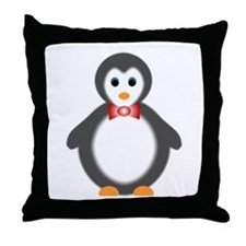 baby boy penguin Throw Pillow