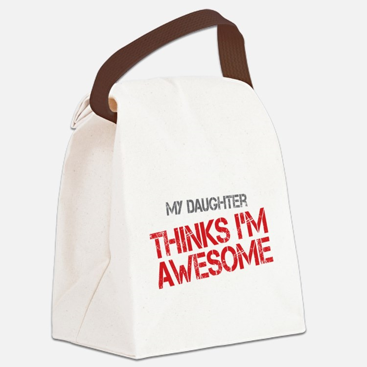 Daughter Awesome Canvas Lunch Bag