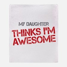 Daughter Awesome Throw Blanket