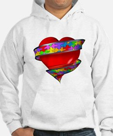 Red Heart w/ Ribbon Hoodie