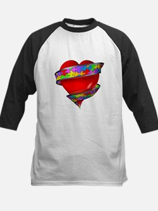 Red Heart w/ Ribbon Kids Baseball Jersey