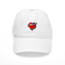 Red Heart w/ Ribbon Baseball Cap