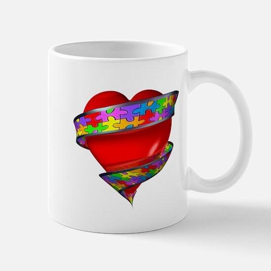 Red Heart w/ Ribbon Mug
