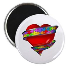 """Red Heart w/ Ribbon 2.25"""" Magnet (10 pack)"""
