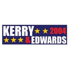 Kerry Edwards 2004 Bumper Bumper Sticker
