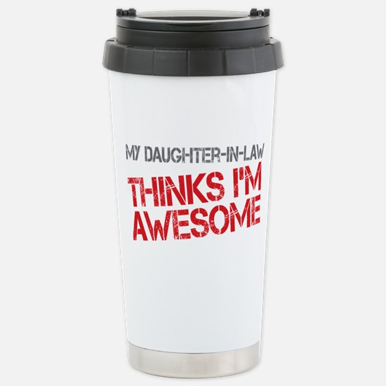 Daughter-In-Law Awesome Stainless Steel Travel Mug