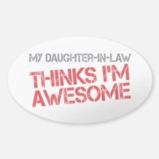 Daughter-In-Law Awesome Sticker (Oval)