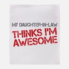 Daughter-In-Law Awesome Throw Blanket
