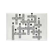 WINES SCRABBLE-STYLE Rectangle Magnet