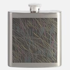 needles soft colors Flask