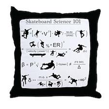 Skateboard Science 101 Throw Pillow