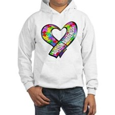 Puzzle Ribbon Heart Hoodie