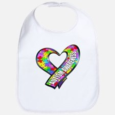 Puzzle Ribbon Heart Bib