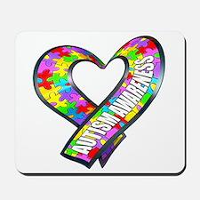 Puzzle Ribbon Heart Mousepad