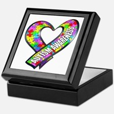Puzzle Ribbon Heart Keepsake Box