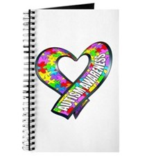 Puzzle Ribbon Heart Journal