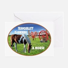 Tranquillity-Own A Horse Greeting Card