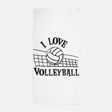 LOVE VOLLEYBALL Beach Towel