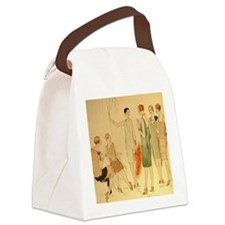 1920s Summer Fashion Canvas Lunch Bag