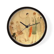 1920s Summer Fashion Wall Clock
