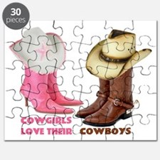 Cowgirls Love Their Cowboys Puzzle