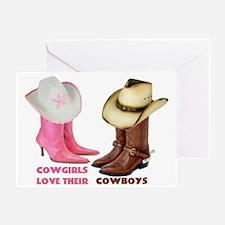Cowgirls Love Their Cowboys Greeting Card