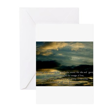 Teilhard de Chardin quote Greeting Cards (Package