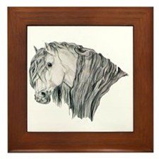 Andalusian Horse Portrait Framed Tile