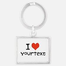 CUSTOMIZE I heart Keychains