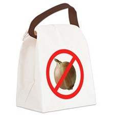 No Onions Canvas Lunch Bag