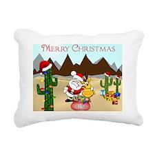 Christmas In The Desert Rectangular Canvas Pillow