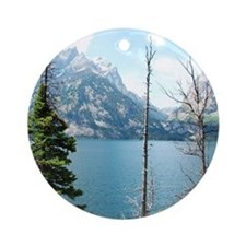 Grand Teton National Park. Landscap Round Ornament