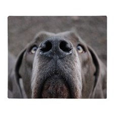 The Great Dane nose Throw Blanket