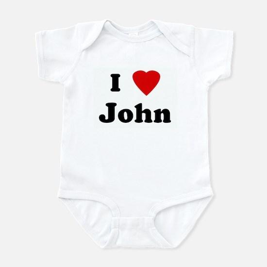 I Love John Infant Bodysuit