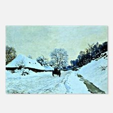 Monet - Cart on the Snow- Postcards (Package of 8)