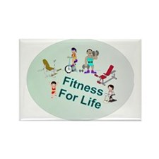 Fitness For Life Rectangle Magnet