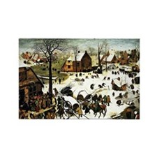 Census at Bethlehem, painting by  Rectangle Magnet