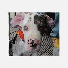 Dane Puppy Daisy Throw Blanket