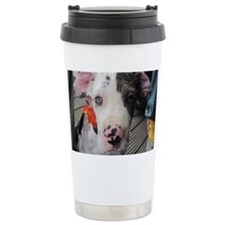 Dane Puppy Daisy Travel Mug