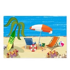Beach Fun Postcards (Package of 8)