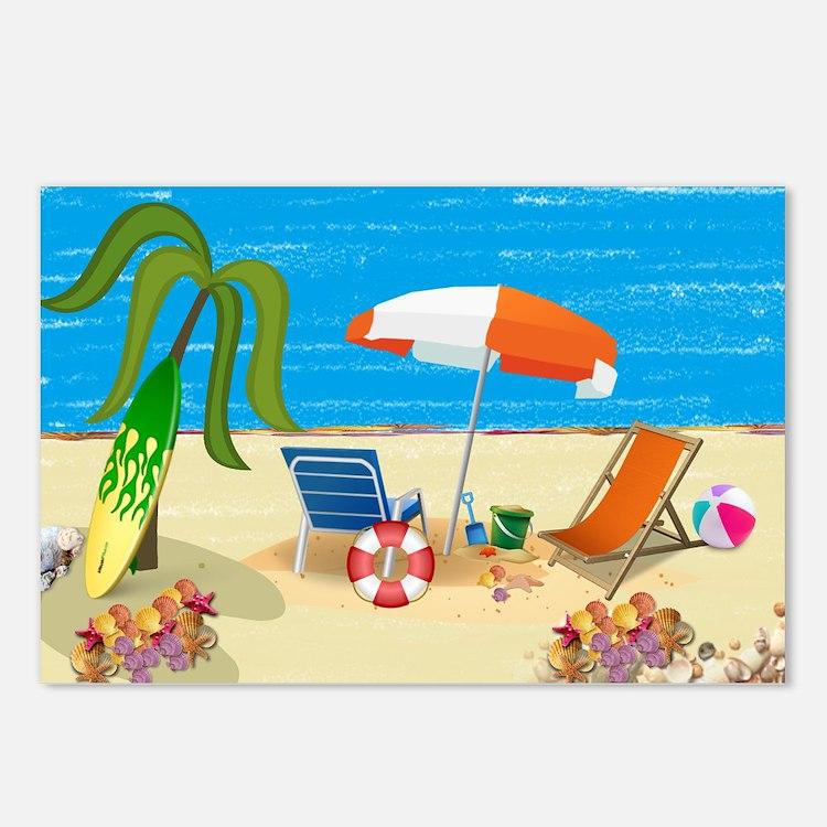 Beach Fun Postcards (Package of 8)