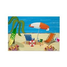 Beach Fun Rectangle Magnet