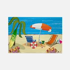 Beach Fun Rectangle Magnet