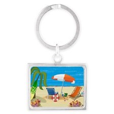Beach Fun Landscape Keychain