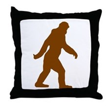 Bigfoot Silhouette Throw Pillow
