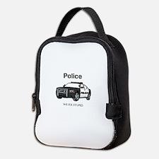 Police We Fix Stupid Neoprene Lunch Bag