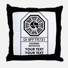 Custom Dharma Label Throw Pillow