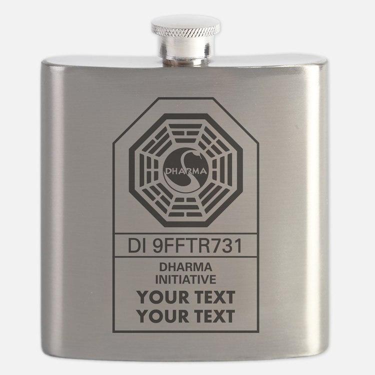 Custom Dharma Label Flask