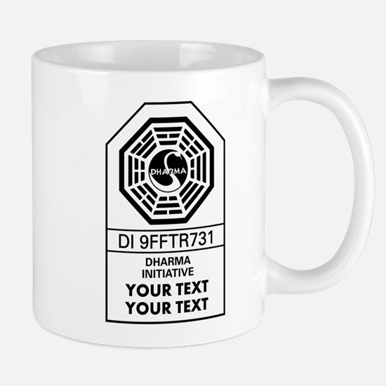 Custom Dharma Label Mugs