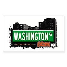 Washington Av, Bronx, NYC Rectangle Decal